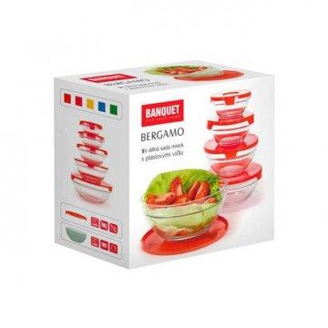 Набор мисок Banquet Bergamo, красный (5 шт.)