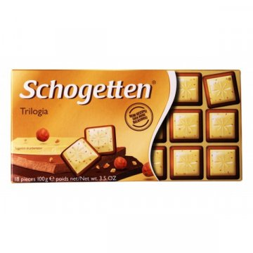 Шоколад Schogetten Trilogia, 100 г