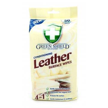 Влажные салфетки Green Shield для кожаных изделий, 50 шт