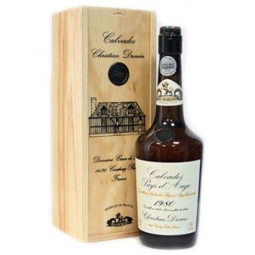 Водка Calvados Coeur de Lion Pays d'Auge, wooden box, 1980 (0,7 л)