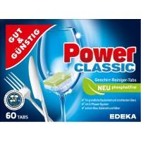 Таблетки для посудомоечных машин Gut&Gunstig Power-Clasic, 60 шт