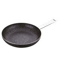 Сковорода 30 см, стальна ручка, мармурове покриття