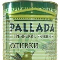 """Оливки зеленые """"Pallada"""" (70-90) ж/б, 2.5кг"""