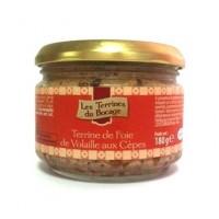 Французский паштет Terrine de foie de Volaille aux Cepes, 180гр