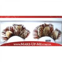 Фантазийные перьевые накладные ресницы 0030 + клей