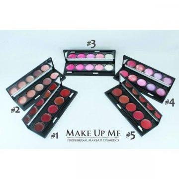 Компактная палитра помад и блесков  5 оттенков Make Up Me L5-1 - L5-1