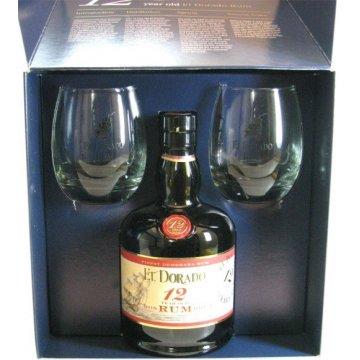 Ром El Dorado 12 yo + 2 glasses (0,7 л)