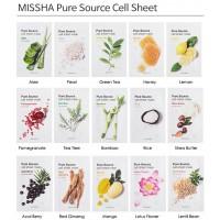 Увлажняющая тканевая маска Missha Pure Source Cell Sheet Mask Green Tea