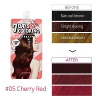 Тонирующая краска для волос Missha Seven Days Coloring Hair Treatment Cherry Red