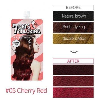 Тонирующая краска для волос Missha Seven Days Coloring Hair Treatment Cherry Red