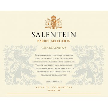 Вино Salentein Chardonnay Barrel Selection (0,75 л)