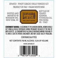 Вино Zenato Pinot Grigio delle Venezi (0,75 л)