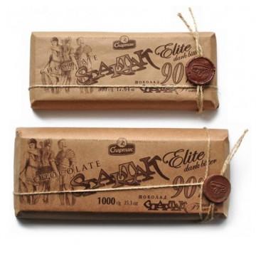 Шоколад премиум Спартак Elite Dark Bitter 90% (90 г)