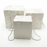 Подарочная коробка 16,5х16,5х18 см.- 9226 (Серая)