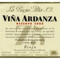 Вино La Rioja Alta Vina Ardanza Reserva Especial, 2008 (0,375 л)