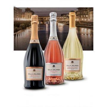 Игристое вино Santero Moscato Rose Villa Jolanda (carved) (0,75 л)