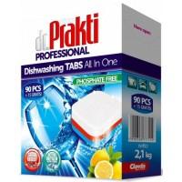 Таблетки для посудомоечных машин dr.Prakti All in On Lemon (105 шт)