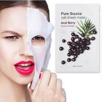 Увлажняющая тканевая маска Missha Pure Source Cell Sheet Mask Acai Berry