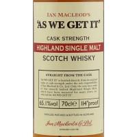 Виски Ian Macleod As We Get It Highland Single Malt (0,7 л)
