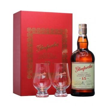 Виски Glenfarclas 15 Years Old (0,7 л) + 2 стакана