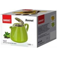 Чайник керамический Banquet Bonnet, зеленый (1,2 л)
