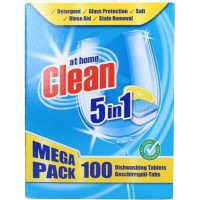 Таблетки для посудомоечных машин At Home Clean 5 in 1 (100 шт)