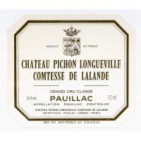 Вино Chateau Pichon Longueville Comtesse de Lalande, 1999 (0,75 л)