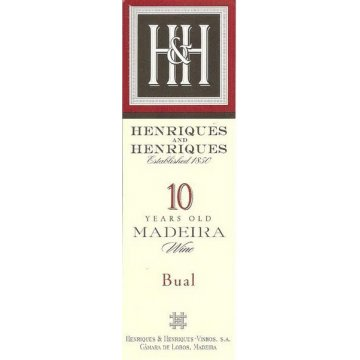 Вино Henriques & Henriques Bual 10 Years Old (0,5 л)
