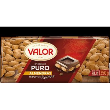 Шоколад черный с цельным миндалем VALOR, 250 г