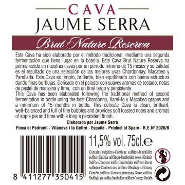 Игристое вино Cava Jaume Serra Brut Nature Reserva (0,75 л)