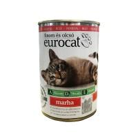 Корм для взрослых кошек с говядиной Eurocat, 425 мл