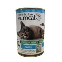 Корм для взрослых кошек с рыбой Eurocat, 425 мл