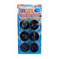 SaniCare Toilet Blocks (синие), 6шт