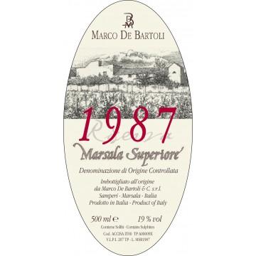 Вино Marco De Bartoli Marsala Superiore, 1987 (0.5 л)