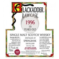 Виски Raw Cask Blackadder Statement Springbank 19 Years Old, 1996 (0,7 л)