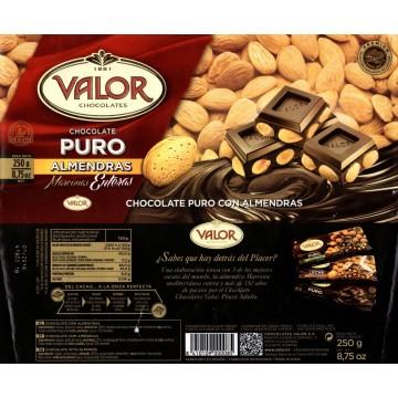 Шоколад черный с цельным миндалем VALOR (250 г)