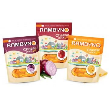 Cыр плавленный копченый Rambyno Snack с ветчиной (75 г)