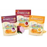 Cыр плавленный копченый Rambyno Snack с жареным луком (75 г)