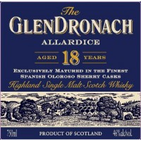 Виски GlenDronach Allardice 18 Year Old (0,05 л)