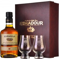 Набор виски Edradour Caledonia 10 Years Old (0,7 л) + 2 glasses