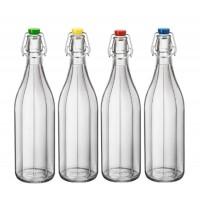 Бутылка Bormioli Rocco Oxford, синяя крышка (1 л)
