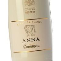 Набор из двух бутылок Codorniu Anna Blanc de Blancs Brut Reserve (0,75 л) + 2 бокала