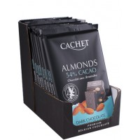 Премиум шоколад Cachet 54% Dark Chocolate with Almonds, 300г