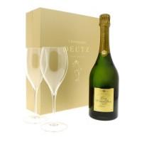 Шампанское Champagne Deutz Cuvee William Deutz, 2007 (0,75 л) GB+ 2 Versailles glasses