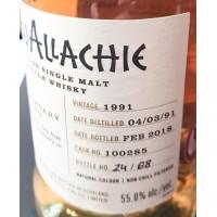 Виски GlenAllachie Cask 100285, 1991 (0,5 л)