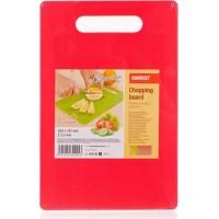 Дошка пластикова Plastia Colore, красная (28,5x18,7 см)