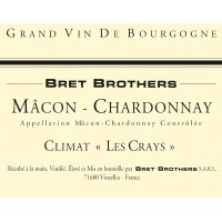 Вино Bret Brothers Macon-Chardonnay Climat Les Crays, 2017 (0,75 л)