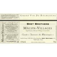 Вино Bret Brothers Macon-Villages Terroirs du Maconnais, 2017 (0,75 л)