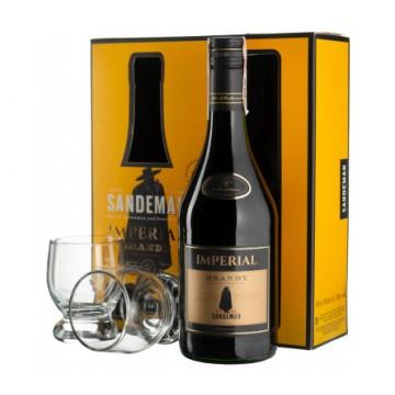 Набор Sandeman Imperial  Brandy (0,7 л) + 2 стакана