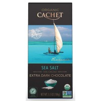 Шоколад Cachet Extra Dark Chocolate Sea Salt Organic 72% (100 г)